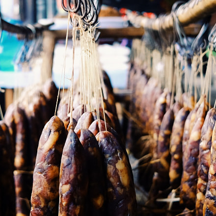 Sausages in southern China, Fujifilm X70