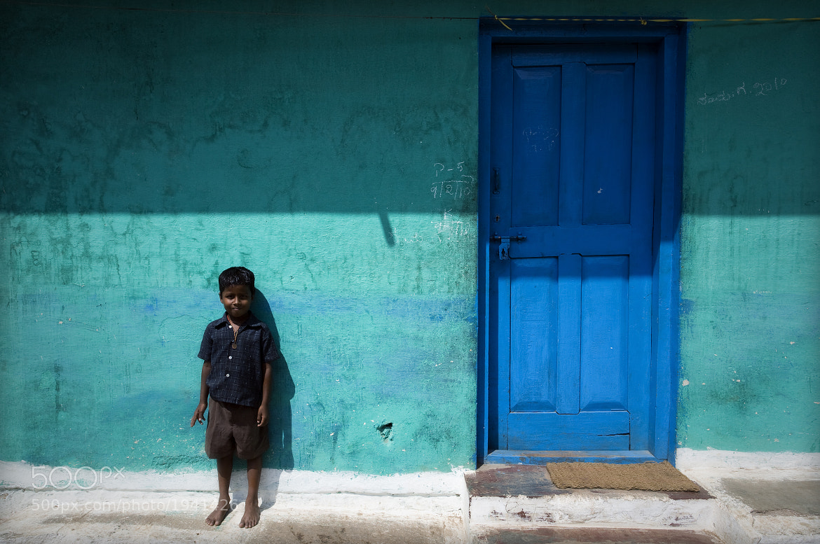 Photograph Boy by Blue Door by Mark Smart on 500px