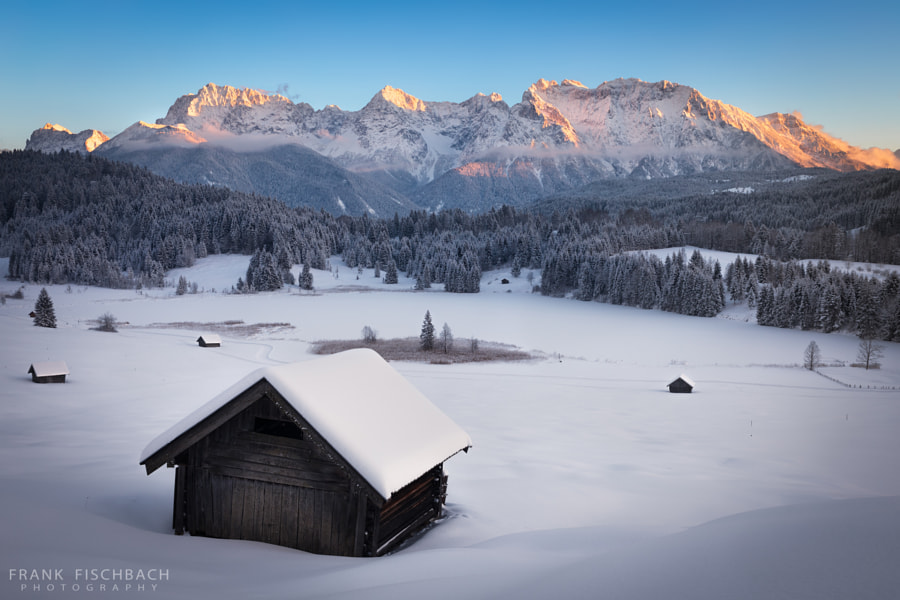 Geroldsee at wintertime, Bavarian Alps, Germany by Frank Fischbach on 500px.com
