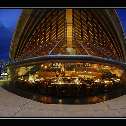 Opera house. Restaurant, Canon EOS 5D MARK III, Canon EF 15mm f/2.8 Fisheye
