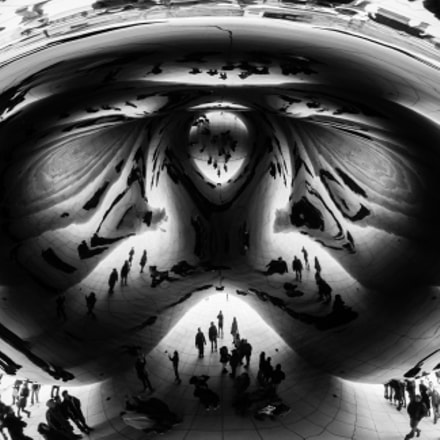 Abstract Cloud Gate in, Nikon D80, AF-S DX Zoom-Nikkor 18-70mm f/3.5-4.5G IF-ED