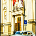 Wedding cars in Warsaw Old City / Poland