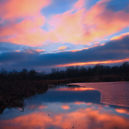 Winter's Reflection, Canon EOS REBEL T2I, Canon EF-S 18-55mm f/3.5-5.6 IS II