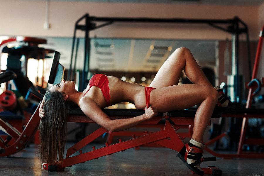 Hot girl in gym