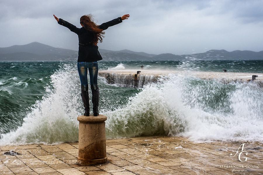 Gale force Jugo (south wind) in Zadar