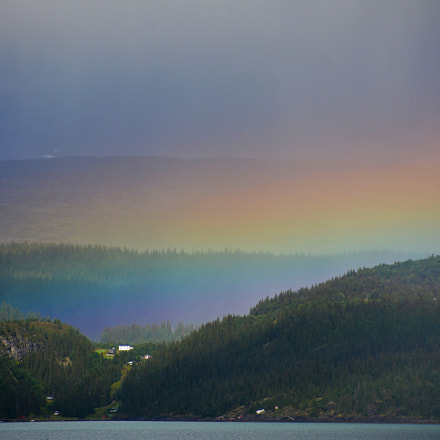 Rainbow at Ranfjorden, Nikon D7100, AF-S DX Nikkor 18-300mm f/3.5-6.3G ED VR