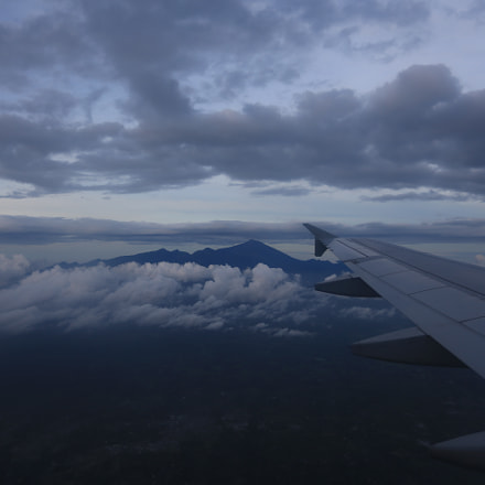 Mt Rinjani from Plane, Canon EOS 5D MARK III, Canon EF 17-40mm f/4L