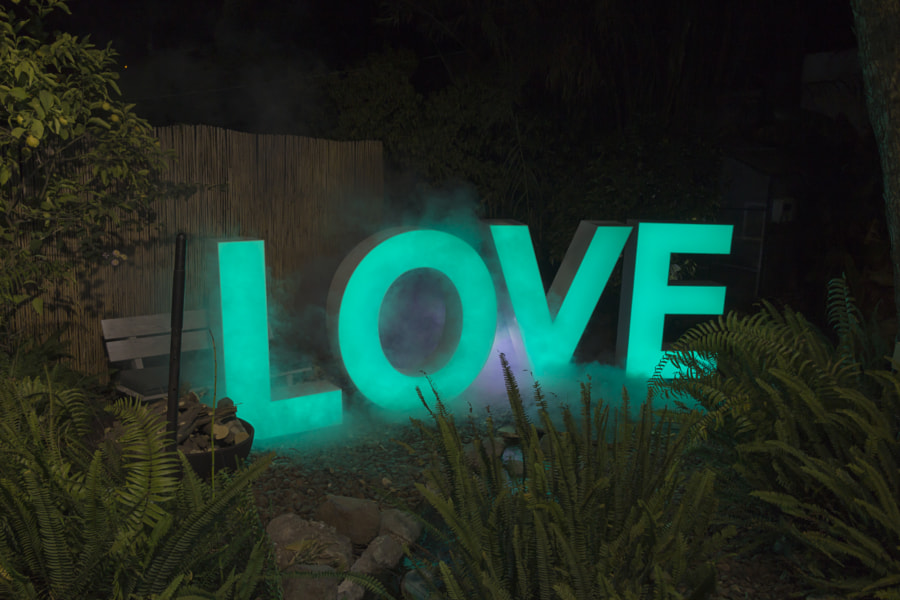 Decorative letters led light sign with the word love by Maor Winetrob on 500px.com