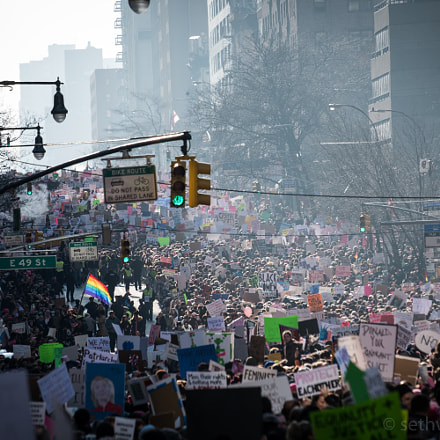 350,000 People March For Women, Fujifilm X-T2, XF55-200mmF3.5-4.8 R LM OIS