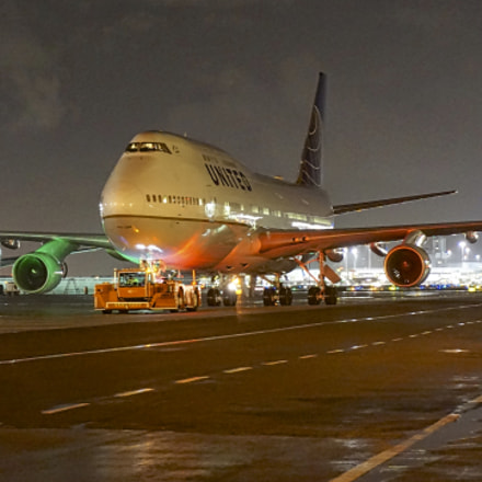 United Airlines Boeing 747, Sony ILCE-6000, Sony E 18-50mm F4-5.6