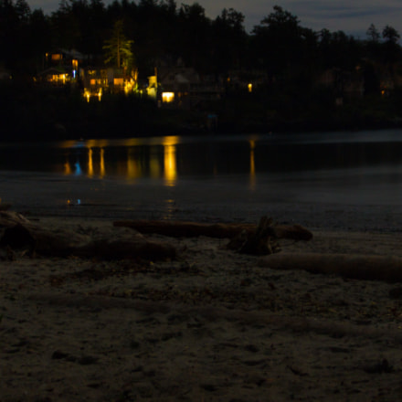 Beach at night, Canon EOS REBEL T5I, Canon EF-S 18-55mm f/3.5-5.6 IS STM