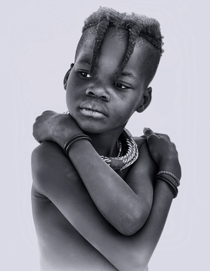 Portrait of a young Himba Girl (Epupa, Namibia) by Yasmine DG on 500px.com