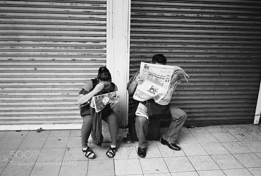 At Little India, Masjid India Street, Kuala Lumpur, Malaysia. (Taken with Fujifilm Klasse W & film)