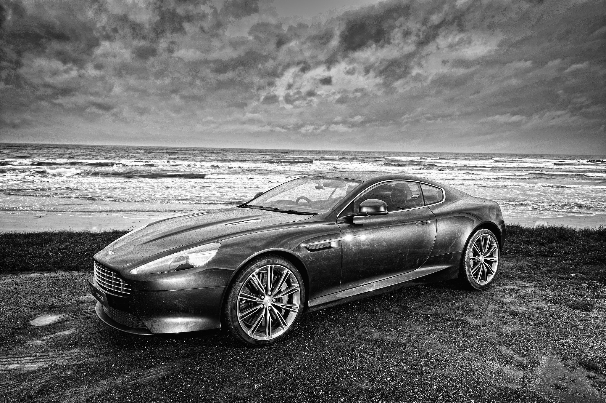 Photograph 2011 Aston Martin Virage Coupe - Quantum Silver by Joel Strickland on 500px