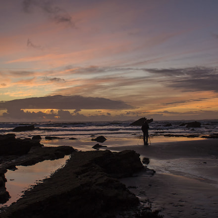 Broadhaven sunset, pembrokeshire, Canon EOS 1200D, Sigma 18-50mm f/2.8-4.5 DC OS HSM