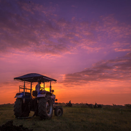 tractor&sunset, Canon EOS REBEL T5, Canon EF-S 18-55mm f/3.5-5.6 IS II