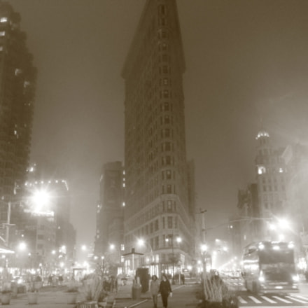 Winter Fog in NYC, Canon EOS REBEL T6, Canon EF-S 18-55mm f/3.5-5.6 IS II