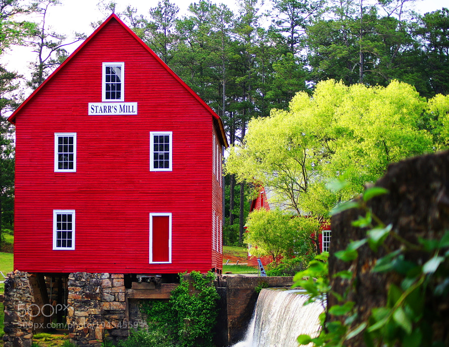 Photograph Starr's Mill Freshly Painted by Aric Jaye on 500px