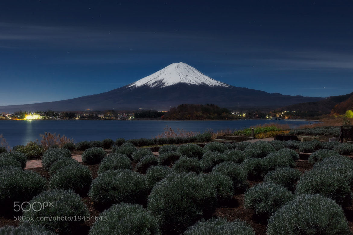 Photograph Mt.Fuji under the fullmoon by MIYAMOTO Y on 500px