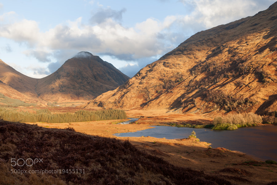 Glen Etive in low light.