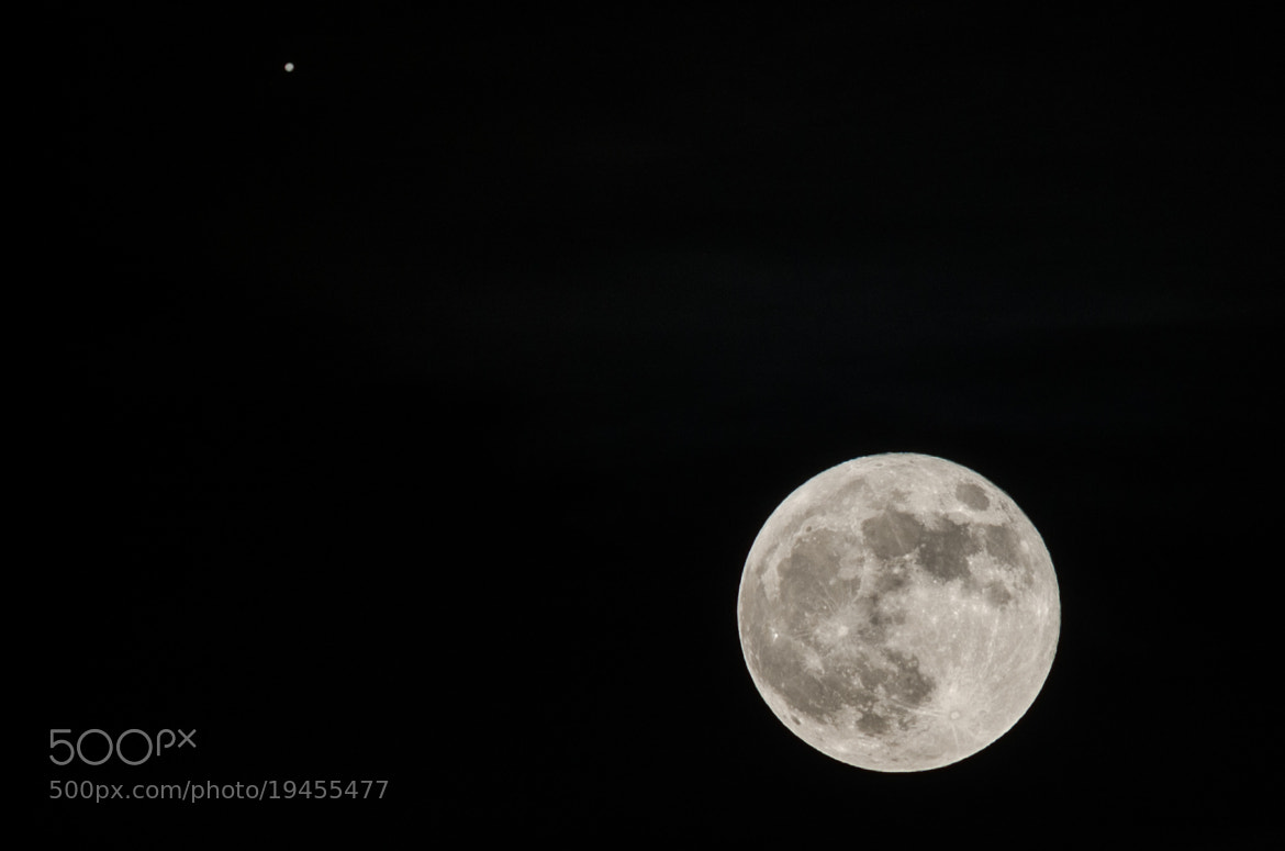 Photograph The Moon & Jupiter by Pete O'Connell on 500px