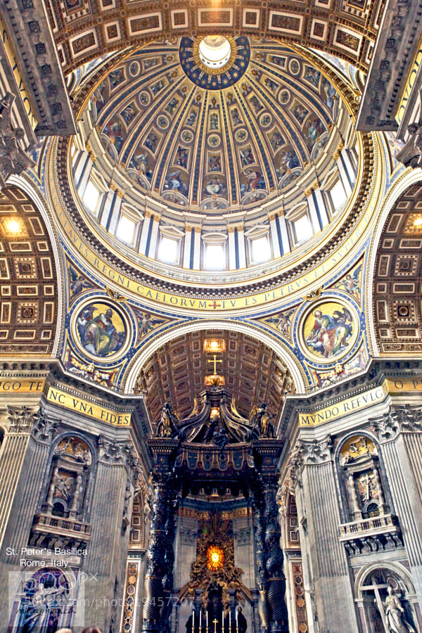 St Peter's Basilica  by miaymarch _amatteroftaste (miaymarch)) on 500px.com
