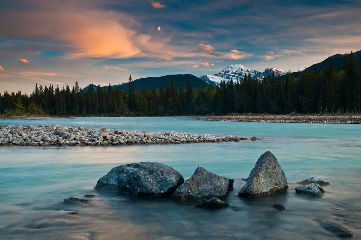 Photograph Moonrise on the Athabasca River by Jeff Lewis on 500px