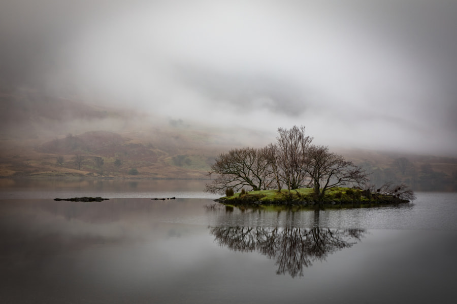 Crummock Island in the mist