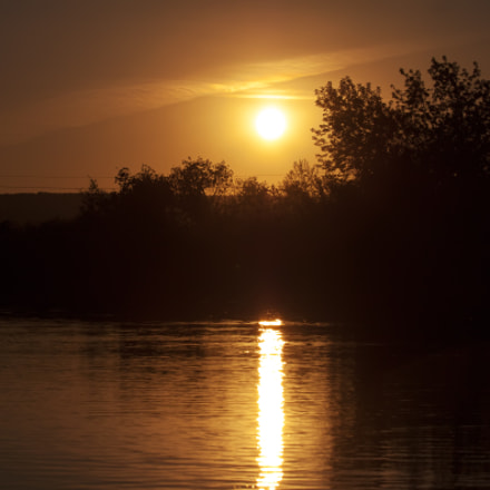 sunset over wetland, Canon EOS 500D, Canon EF 70-300mm f/4-5.6 IS USM