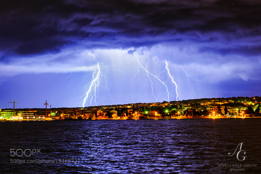 Storms from the sea were attacking Velebit mountain all night long, and one of them rolled to Zadar