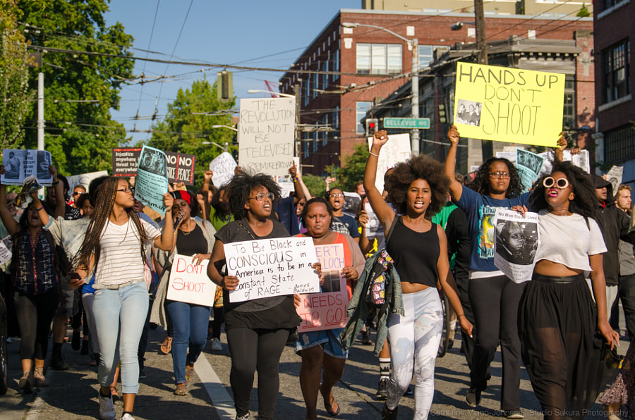 Seattle Stands with Michael Brown by Catherine Miano Johnson on 500px.com