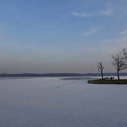 Winter - Kralingse Plas (1), Sony DSC-HX90, Sony 24-720mm F3.5-6.4