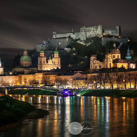 Salzburg night, Canon EOS 750D, Canon EF-S 18-55mm f/3.5-5.6 IS STM