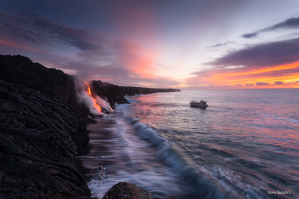 Photograph Lava Meets Ocean by Tom Kualii on 500px