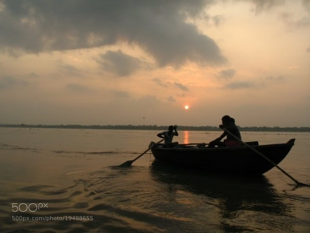 Photograph Sunrise on the Ganges by Anirban Bhattacharyya on 500px