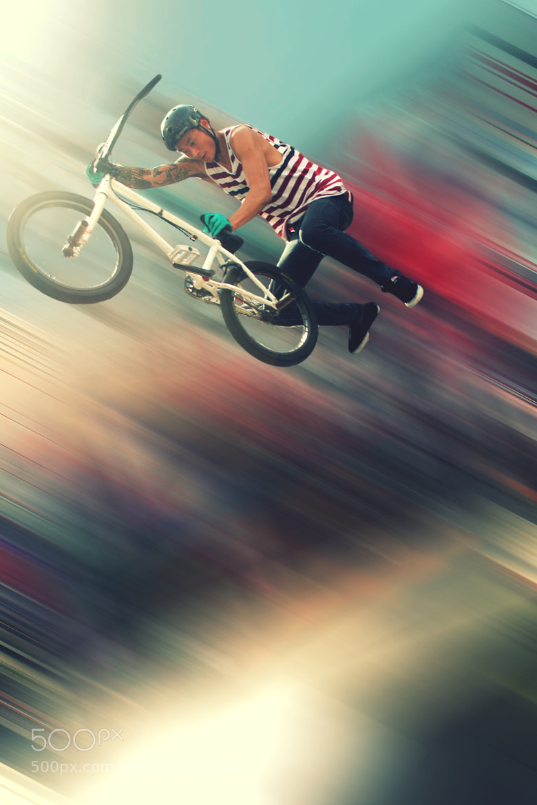 Photograph Rainbow BMX by Alex Gat' on 500px