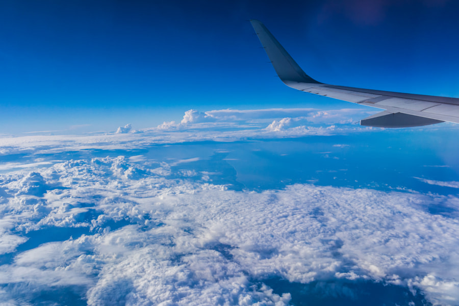 Cloud from airplane. White and Blue by Luis Villeda on 500px.com