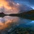 Laghetto della Meja al tramonto