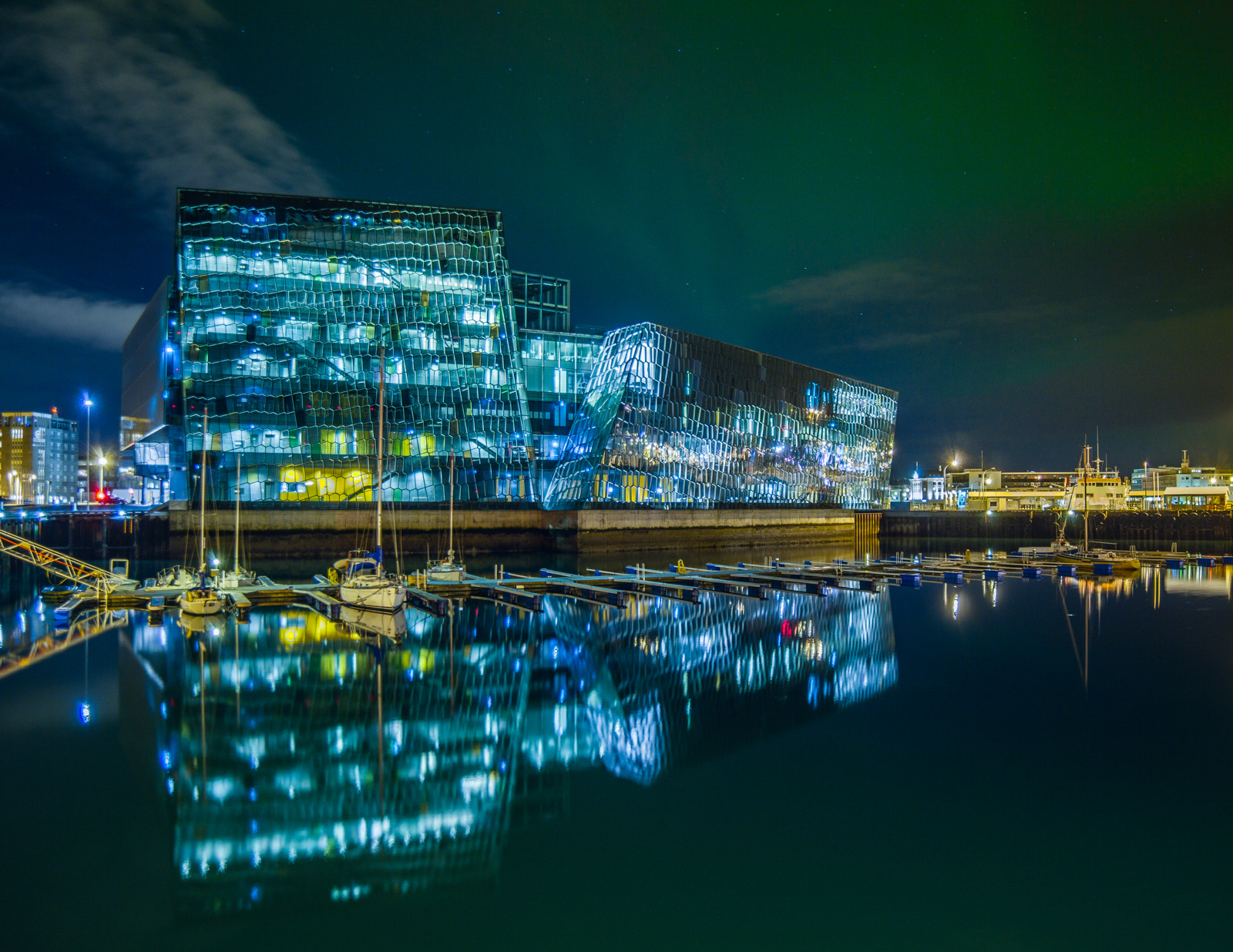 Photograph Harpa+Northern Lights by Agust Ingvarsson on 500px