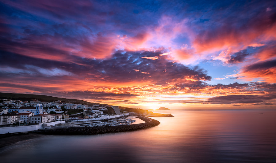 Dawn over Angra do Heroismo by Gergely Ernő Endre on 500px.com