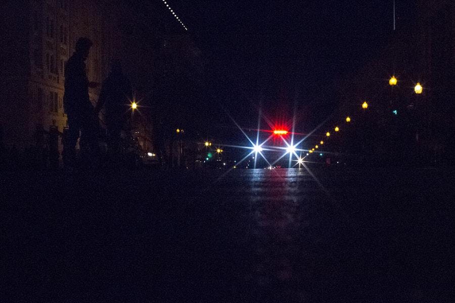 Police car on 15th street