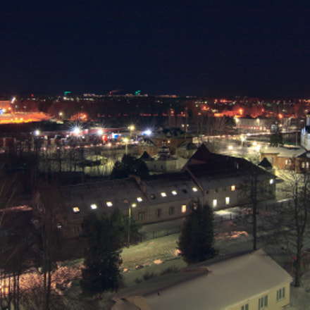 Ночная Дубна / Night Dubna, Canon EOS 400D DIGITAL, Tokina AT-X 124 AF Pro DX 12-24mm f/4