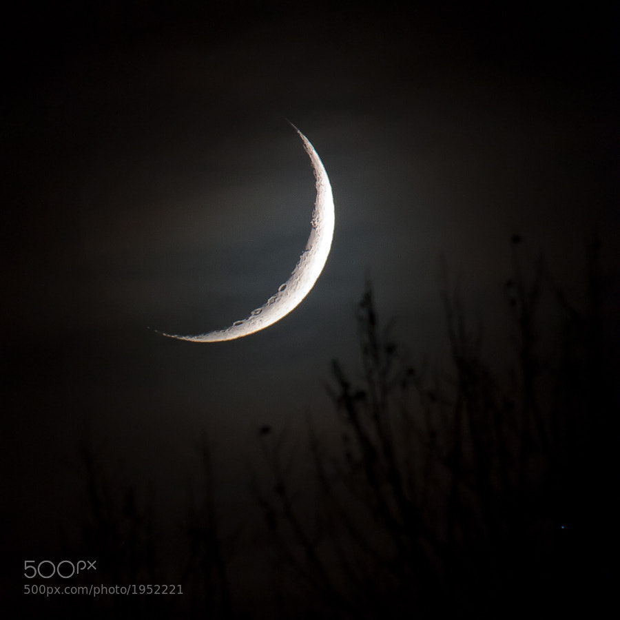 Photograph .: Crescent Moonset :. by Jon Rista on 500px