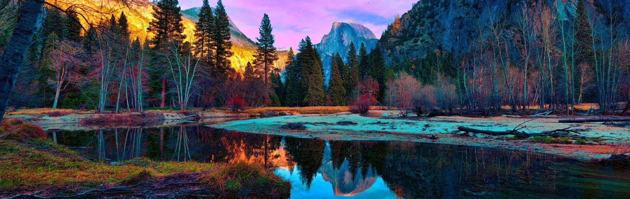 Photograph Half Dome Panorama by Sheldon Steere on 500px