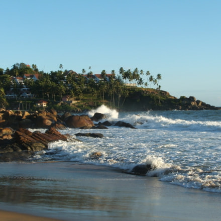 At the Kovalam Beach, Fujifilm FinePix S3500