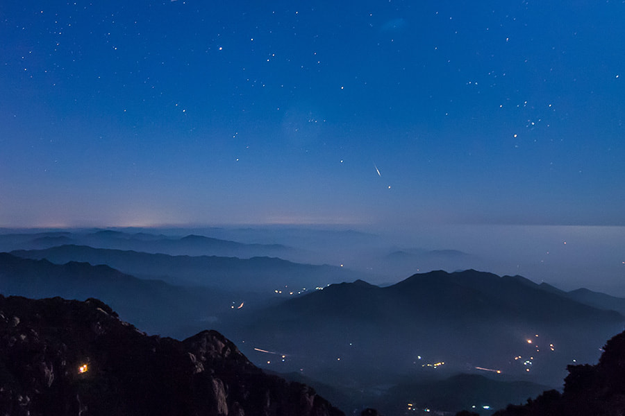 Photograph Perseid meteors by Song Hongxiao on 500px