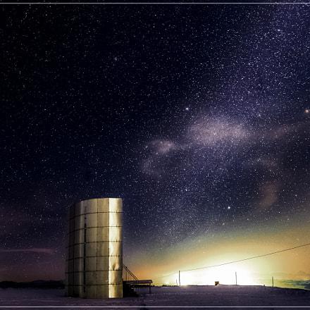 Aussichtswarte Kremsmünster bei Nacht