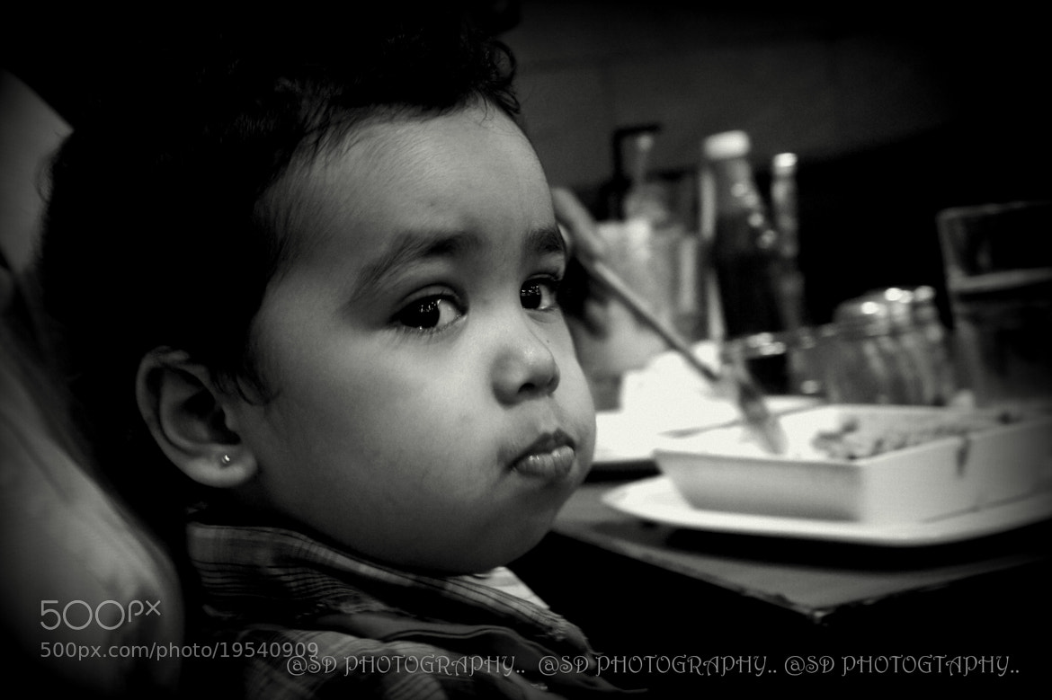 Photograph portrait of a baby :) :) b&w  by SUBHA   on 500px