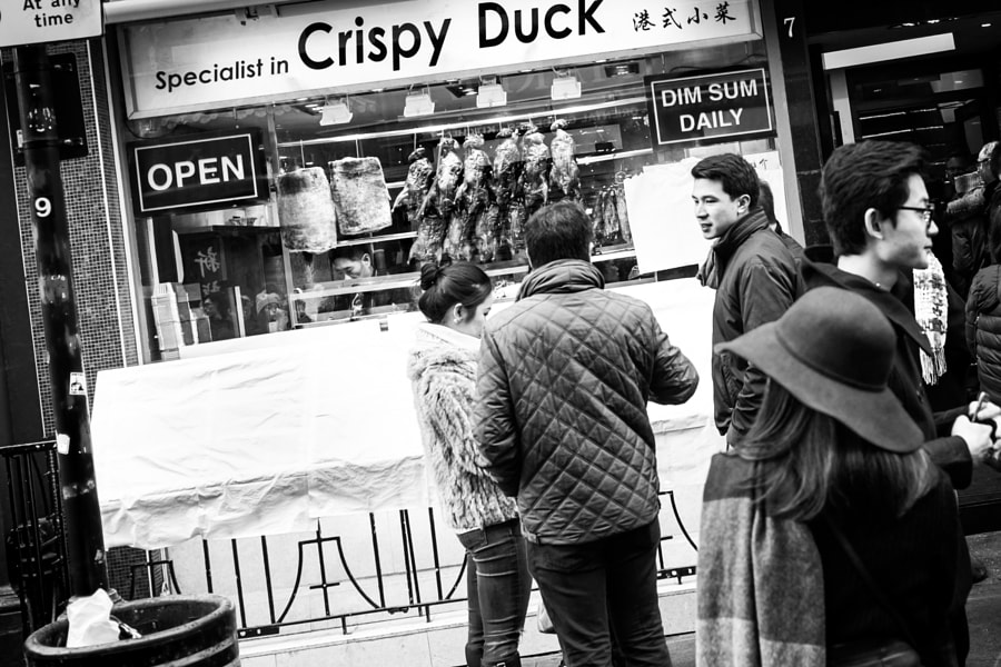 A food photo disguised as a street photo because #DUCK