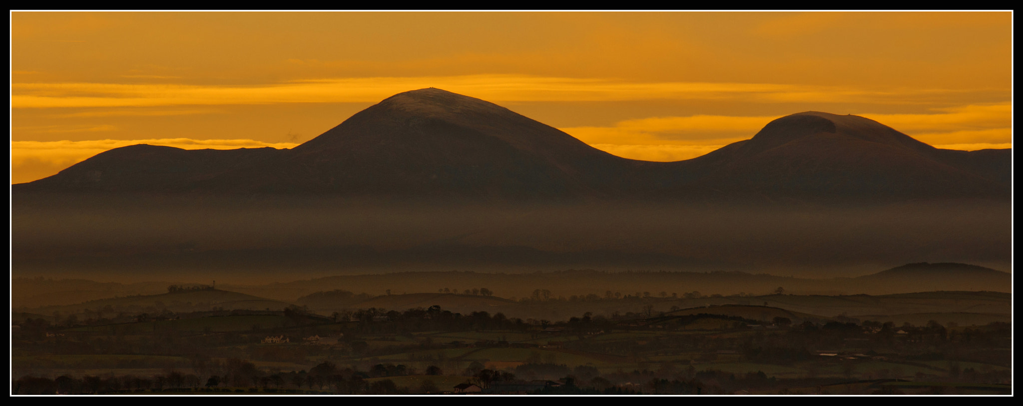 Photograph View of The Mournbes From Scrabo by Jonny Andrews on 500px